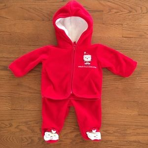 0-3 Month Baby's First Christmas Outfit